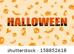 illustration of halloween... | Shutterstock .eps vector #158852618