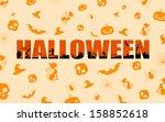 illustration of halloween... | Shutterstock .eps vector #158852618