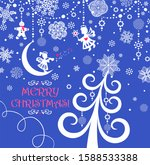 Christmas Greeting Blue Card...
