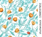 seamless pattern with elements... | Shutterstock . vector #1588537852