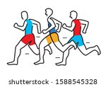 running race  marathon  line... | Shutterstock .eps vector #1588545328