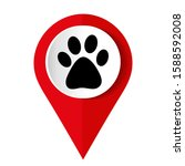 paw print icon. vector... | Shutterstock .eps vector #1588592008