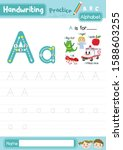 letter a uppercase and... | Shutterstock .eps vector #1588603255