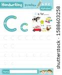 letter c uppercase and... | Shutterstock .eps vector #1588603258