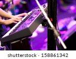 hands of musician playing... | Shutterstock . vector #158861342