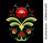 seasonal composition  branch... | Shutterstock .eps vector #1588634185