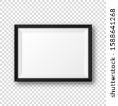 realistic blank black picture... | Shutterstock .eps vector #1588641268