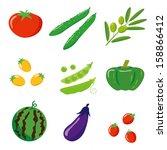 vegetables | Shutterstock .eps vector #158866412