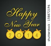 happy new year 2014 and merry...   Shutterstock .eps vector #158872196
