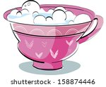 vector illustration of a pink...
