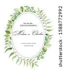 botanical postcard with wild... | Shutterstock .eps vector #1588772992