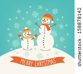 christmas greeting card with... | Shutterstock .eps vector #158878142