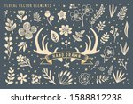 hand drawn floral vector element | Shutterstock .eps vector #1588812238