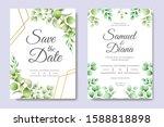 wedding invitation card...   Shutterstock .eps vector #1588818898