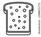tasty toast icon. outline tasty ... | Shutterstock .eps vector #1588821772