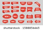 new red label discount sale big ... | Shutterstock .eps vector #1588856665
