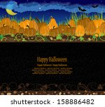 pile of pumpkins. halloween... | Shutterstock .eps vector #158886482