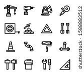 construction icon set 16  ...   Shutterstock .eps vector #1588883512