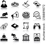 politics related icons ... | Shutterstock .eps vector #158889872