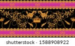 baroque seamless pattern with... | Shutterstock .eps vector #1588908922