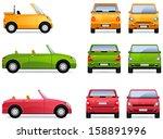 convertible car. pixel... | Shutterstock .eps vector #158891996