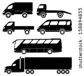 cars silhouettes vector... | Shutterstock .eps vector #158894855