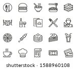 Dinner At Restaurant Icons Thin ...