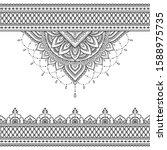 seamless borders with mandala... | Shutterstock .eps vector #1588975735