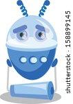 cartoon robot | Shutterstock .eps vector #158899145