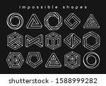 geometric shapes optical... | Shutterstock .eps vector #1588999282