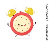 cute smiling happy alarm time...   Shutterstock .eps vector #1589006998