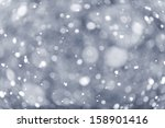 Background Of Snow Flurry...
