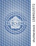 nursing blue emblem with... | Shutterstock .eps vector #1589015572
