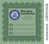 green warranty certificate... | Shutterstock .eps vector #1589015638