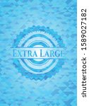 extra large realistic sky blue... | Shutterstock .eps vector #1589027182