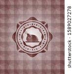 chicken dish icon inside red... | Shutterstock .eps vector #1589027278