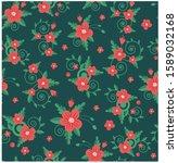 vector illustration  flowers... | Shutterstock .eps vector #1589032168