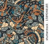 tracery seamless pattern.... | Shutterstock .eps vector #1589048185