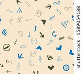 seamless vector pattern with... | Shutterstock .eps vector #1589054188