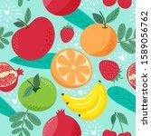 hand draw cute seamless pattern ... | Shutterstock .eps vector #1589056762