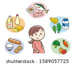 the five major nutrients and...   Shutterstock .eps vector #1589057725