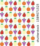 pattern of some fruits ... | Shutterstock .eps vector #1589071525