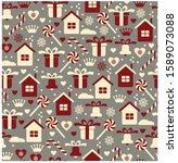 vector illustration  seamless... | Shutterstock .eps vector #1589073088