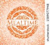 Mealtime Orange Mosaic Emblem....