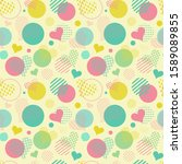 seamless pattern on the theme... | Shutterstock .eps vector #1589089855