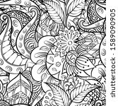 tracery seamless pattern.... | Shutterstock .eps vector #1589090905