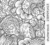 tracery seamless pattern.... | Shutterstock .eps vector #1589091415