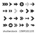 arrows big black set icons.... | Shutterstock .eps vector #1589101135