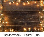 christmas light background ... | Shutterstock . vector #158912186