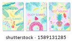 colorful summer backgrounds... | Shutterstock .eps vector #1589131285